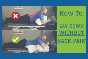 HOW TO LAY DOWN WITHOUT BACK PAIN (simple fix)